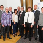 Member of Scottish Pariliament with Apprentices and sponsors