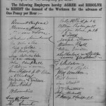 Master Painters' Association agree a wage increase on 4th April 1877 by one halfpenny, resisting the demands of Workmen for an advance of one penny.