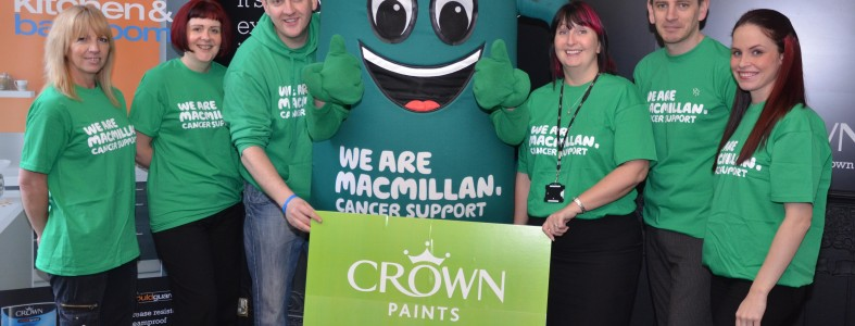 MacMillan cancer Crown Paints